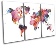 Watercolour  Abstract Maps Flags - 13-6013(00B)-TR32-LO
